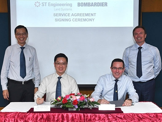 Bombardier inks framework agreement with ST Engineering to build Singapore Service Centre