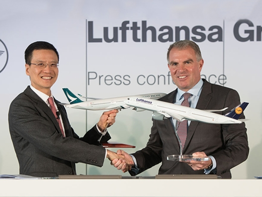Cathay Pacific Airways, Lufthansa Group enter into new codeshare agreement