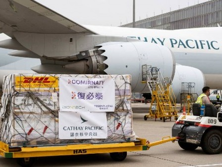 Cathay Pacific delivers first Fosun Pharma/BioNTech Covid-19 vaccines to Hong Kong
