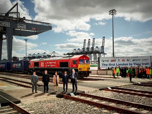 First freight train to China departs UK