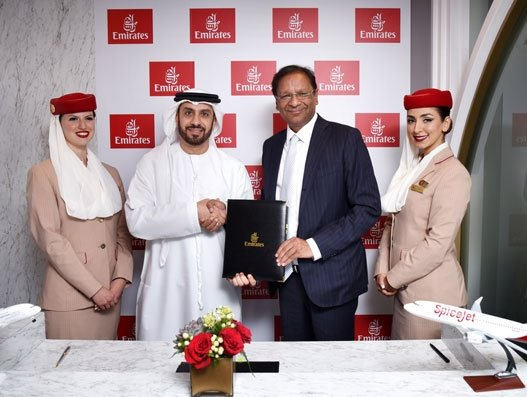 Codeshare deal finalised between SpiceJet and Emirates