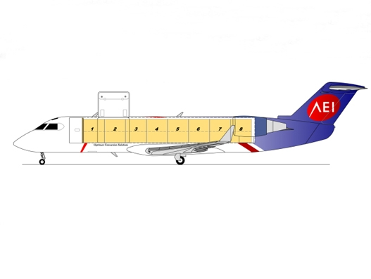 AEI announces two CRJ200 SF freighter conversions for Mexico's TSM