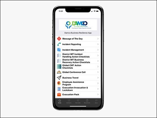 DAMCO's app tackles 47 freight interruption scenarios