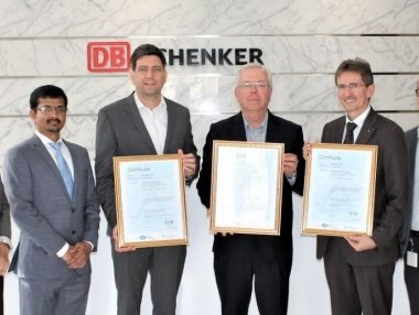 DB Schenker is ISO-certified in the Middle East, Africa