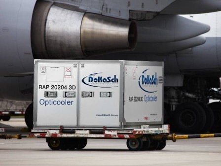 Delta Cargo's new high-tech cooler to allow safer vaccine transportation
