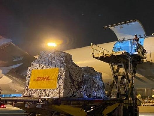 DHL delivers South Korean Covid-19 test kits in millions