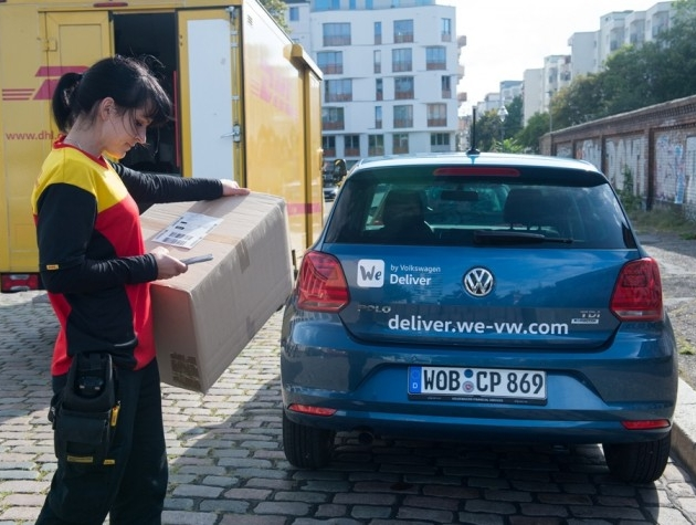 DHL Parcel and Volkswagen launch joint pilot project in Berlin