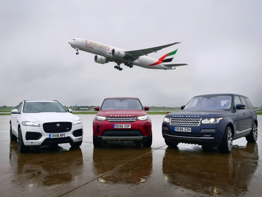 Emirates SkyCargo transports exclusive Jaguar Land Rover cars from Birmingham Airport