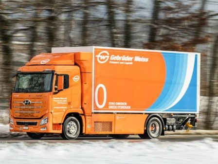 Gebrüder Weiss tests its first hydrogen truck in Switzerland