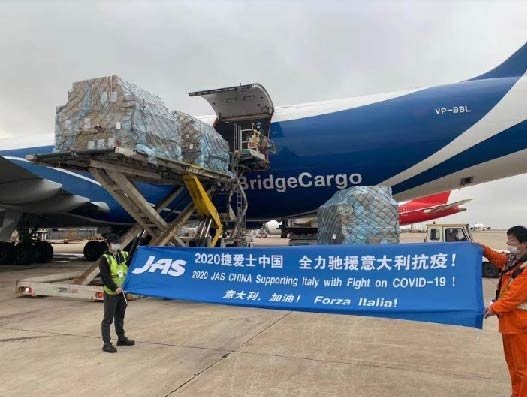 JAS, AirBridgeCargo partner to fly relief cargo for Italian brand