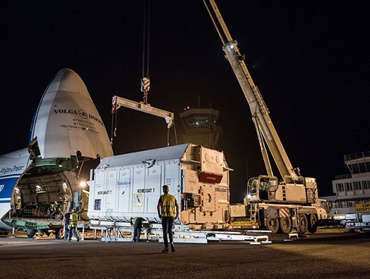Two new telecommunications satellites transported to Kourou with the help of Bolloré Logistics