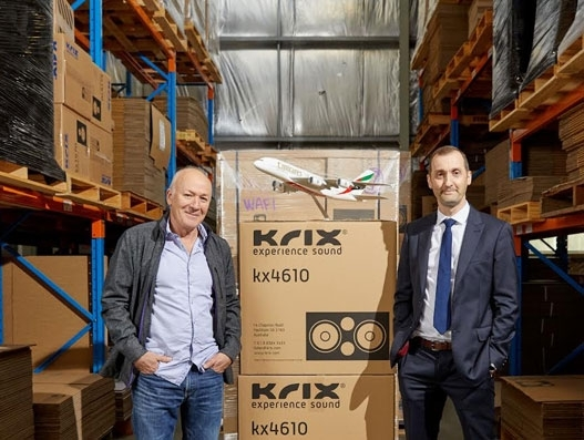 Krix's cinema sound system exports get a boost through partnership with Emirates SkyCargo
