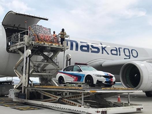 MASkargo in race equipment charter