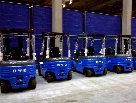 BYD Forklifts partners with Broekman Logistics in Rotterdam to serve European clients