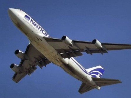 National Airlines' B747-400F freighter lands in Dubai from Israel