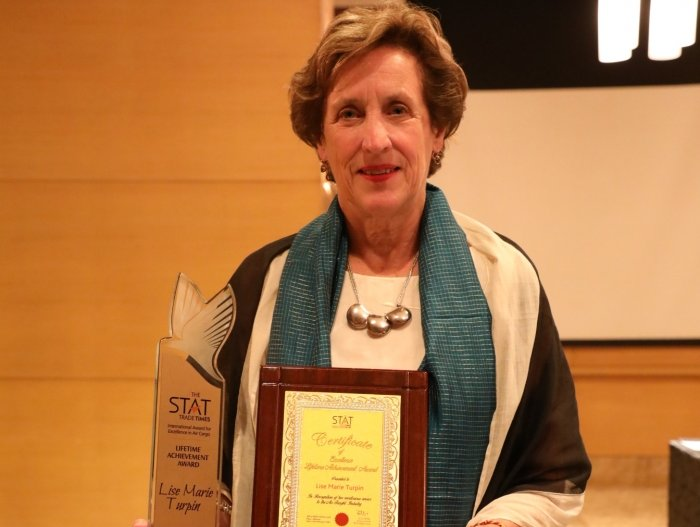 Lise-Marie Turpin receives The STAT Trade Times Lifetime Achievement Award