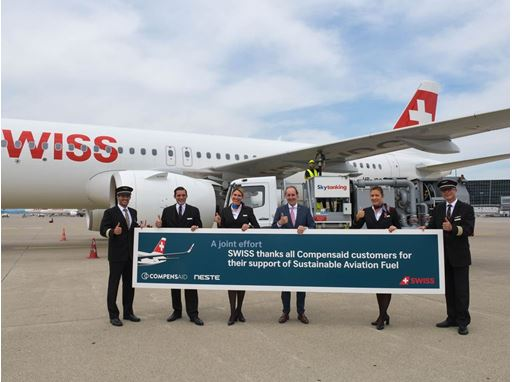 SWISS and Neste collaborate for sustainable aviation fuel