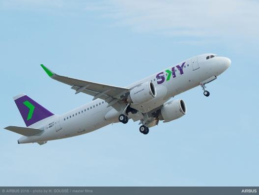 First A320neo aircraft joins Sky Airline's fleet