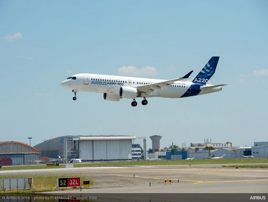 Airbus family grows bigger with the launch of A220-100 and A220-300