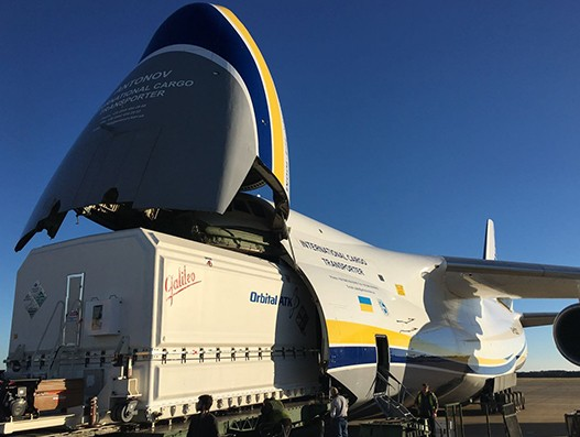 ANTONOV Airlines transports Al Yah 3 communications satellite to its launch site
