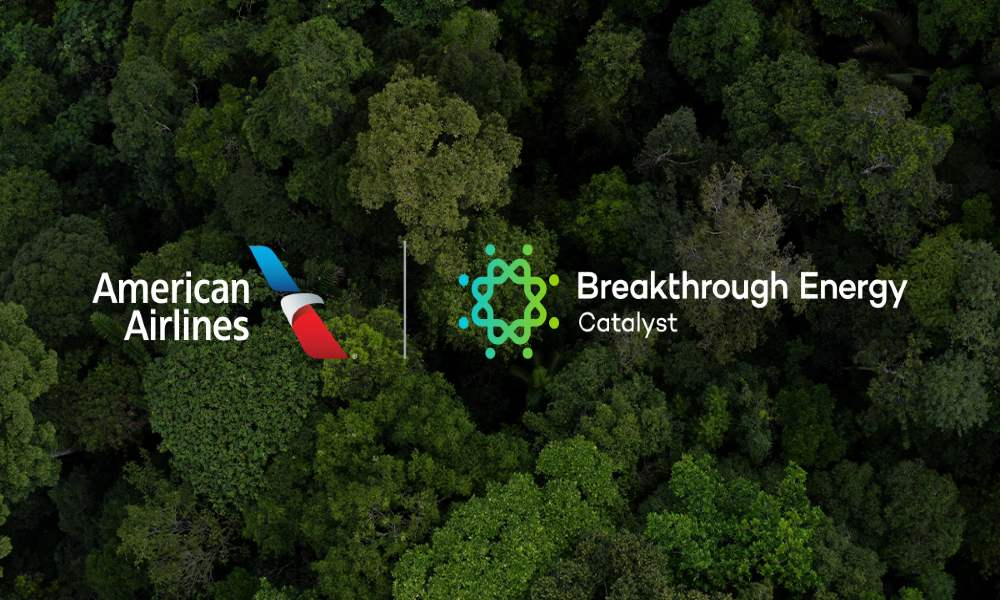 American Airlines collaborate with Breakthrough Energy Catalyst