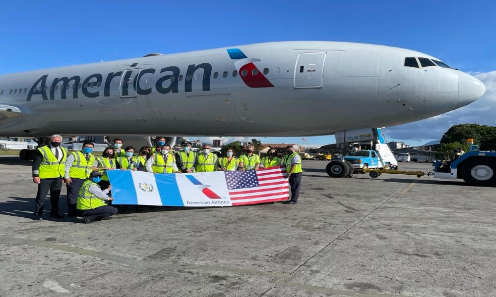 American Airlines deliver 3 million more vaccines in Guatemala