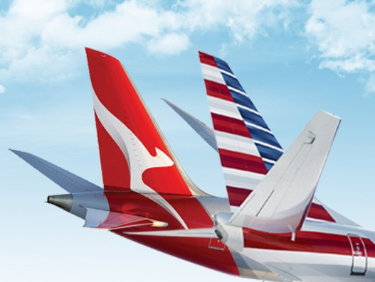 American and Qantas to form joint business; file application with the US DOT