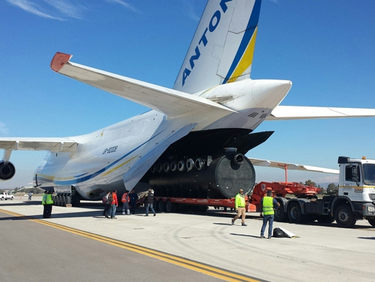 Antonov Airlines transports mining cargo from Chile to Argentina in 39 minutes