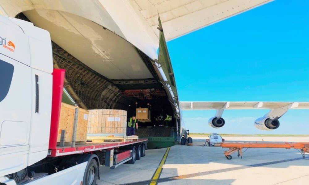 Antonov Airlines safely transports mining equipment from France to Argentina