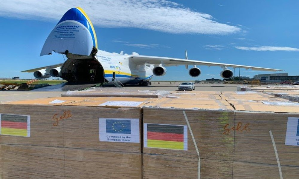 Antonov Airlines transported medical supplies from Germany to Namibia