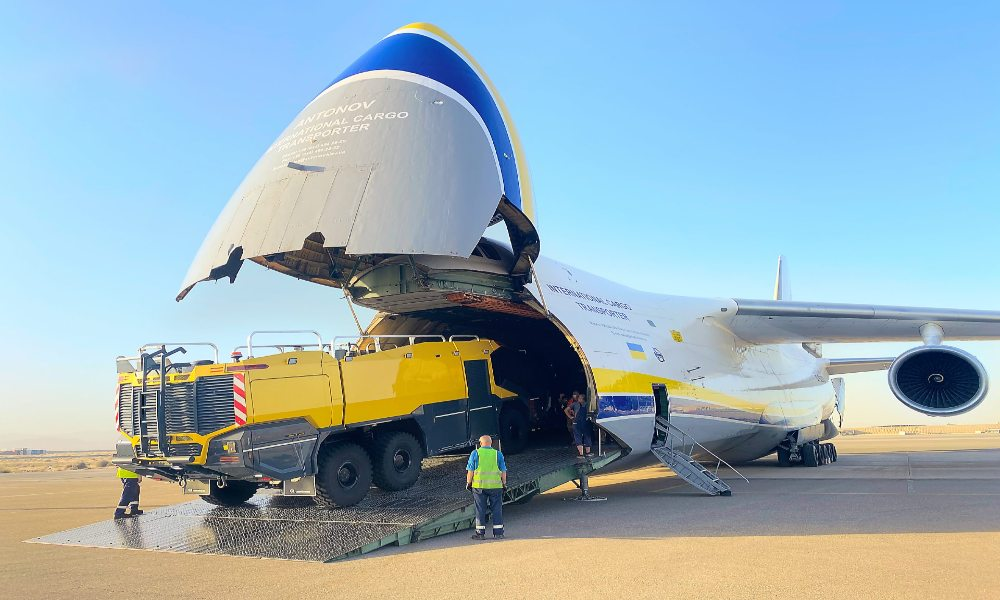 Antonov flies three fire trucks from Middle East to Central Asia on a single AN-124-100
