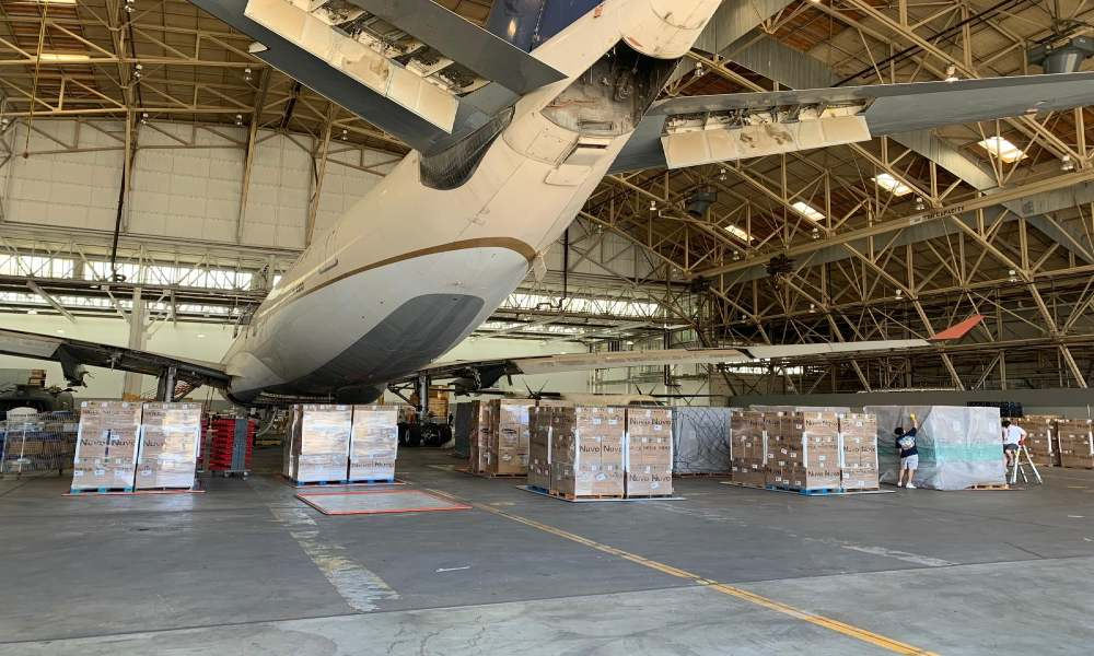 Aviation industry join hands for B747F delivery of critical medical aid to India