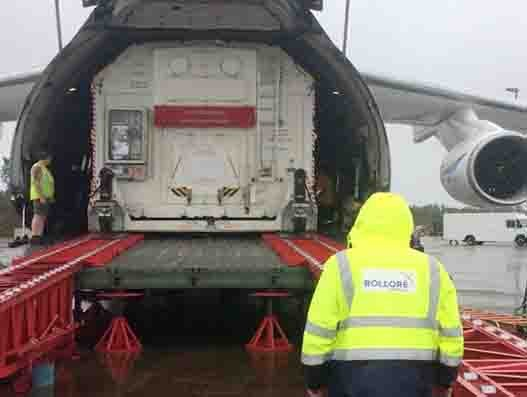 Bolloré Logistics handles transportation of satellite and GSE for Spacex