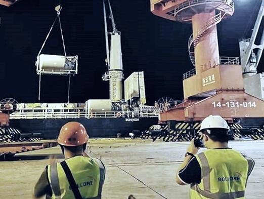 Bolloré Logistics  Central China transports oil & gas upstream equipment to Egypt