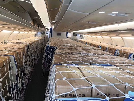 Passengers are not flying, but cargo is