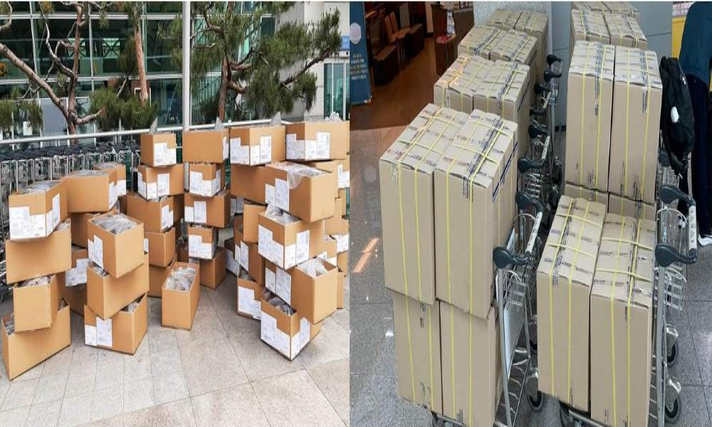 Chapman Freeborn OBC receives special request to repack and wrap boxes