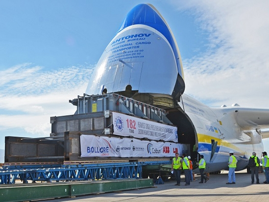 Bolloré Logistics Chile handles transformer with Antonov An-225