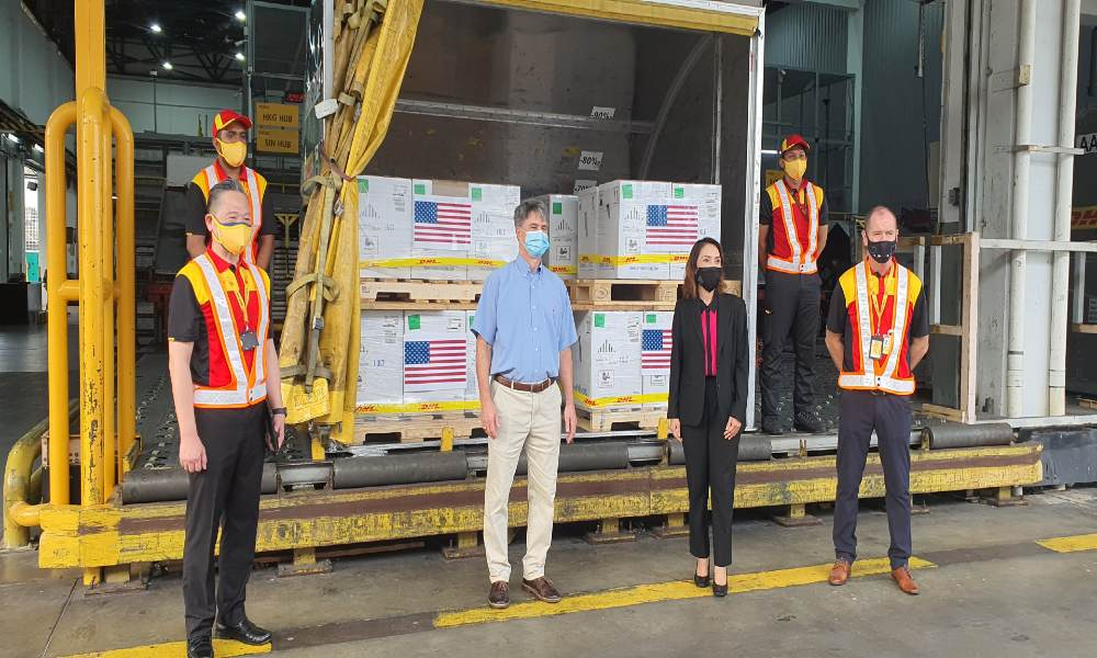 DHL Express transports US donation of 1,000,000 doses of Pfizer-BioNTech vaccines to Malaysia