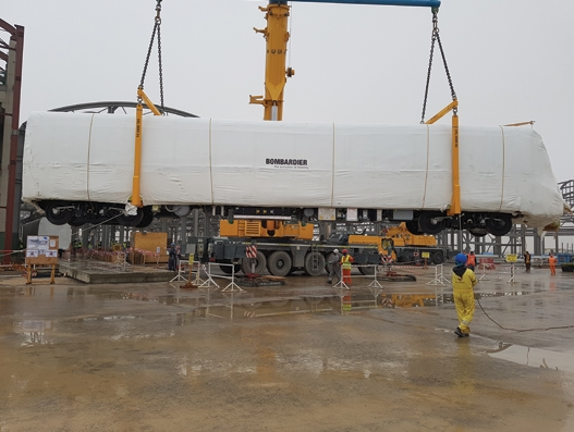 DHL delivers 47 Bombardier train sets for Riyadh's new metro line