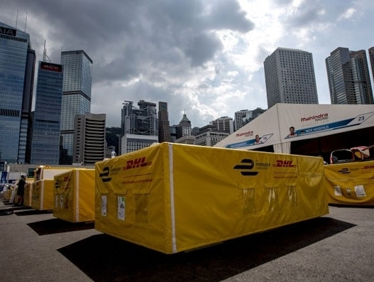DHL transports equipment for Formula E finale in US