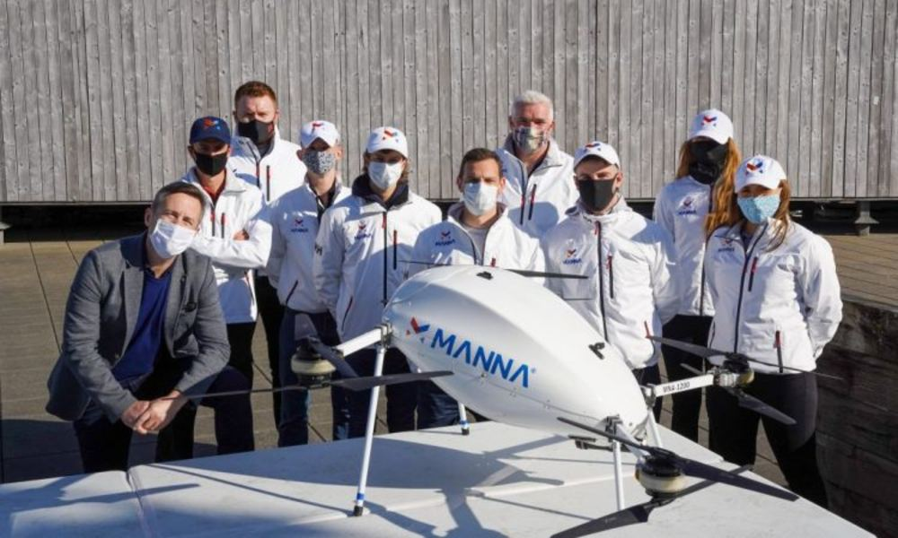 Drone delivery startup Manna raises $25 million to scale up operations