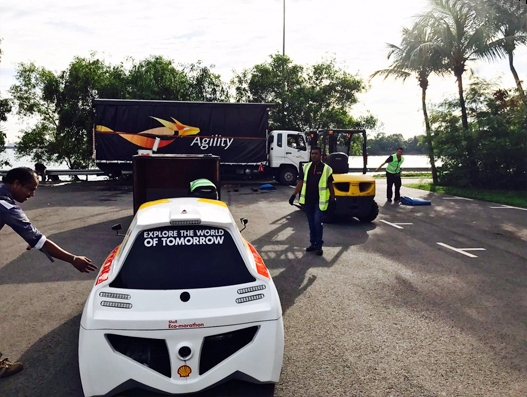 Agility partners with Shell Eco-marathon to ship vehicles
