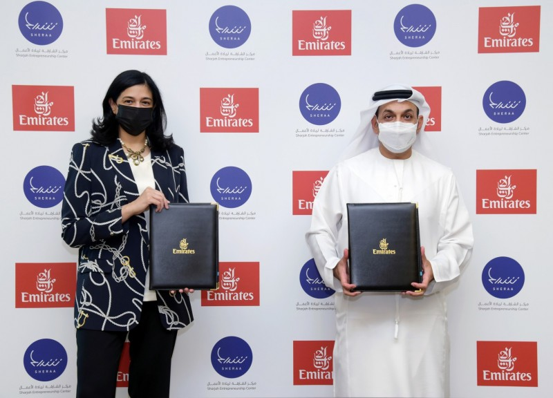 Emirates, Sheraa ink pact to develop startup ecosystem in UAE