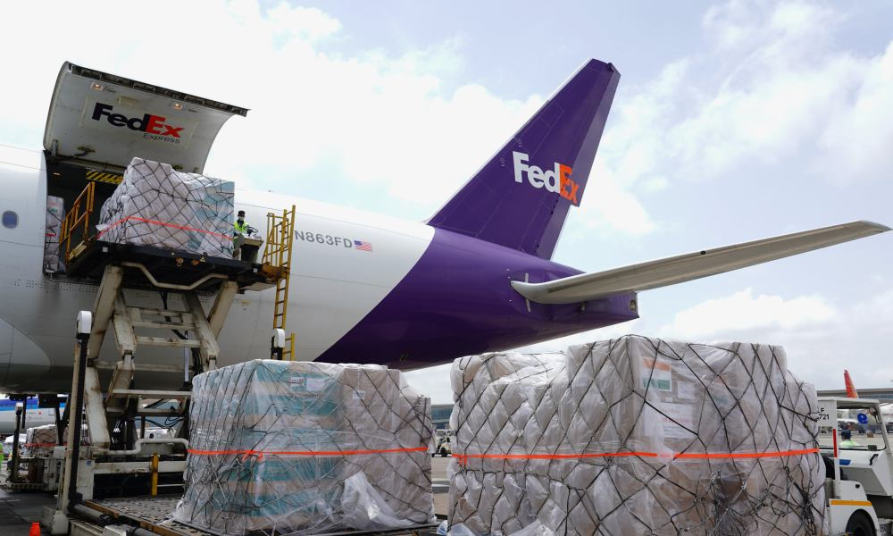 FedEx Express sends third dedicated charter with medical supplies from Memphis to Mumbai