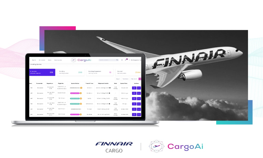 Finnair Cargo goes live on CargoAi for booking services