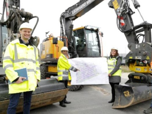 Fraport AG begins construction of new truck parking lot in CargoCity South