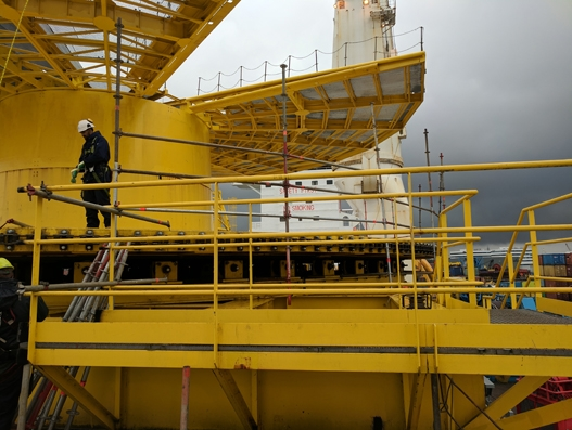 Hansa Heavy Lift transports giant carousel to the Egina oil field, Nigeria