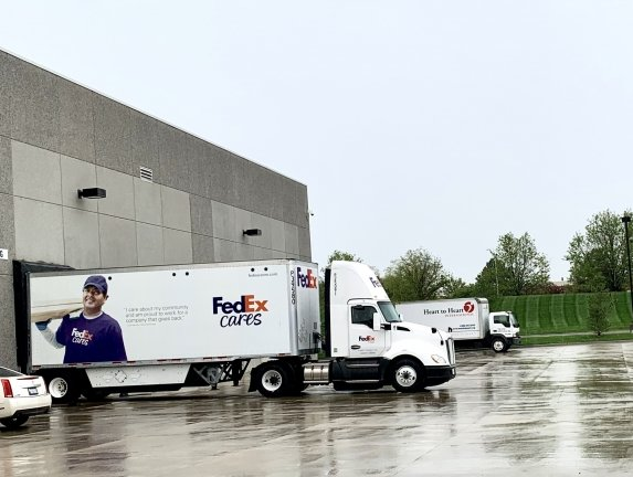 FedEx donates shipping services; ships medical supplies