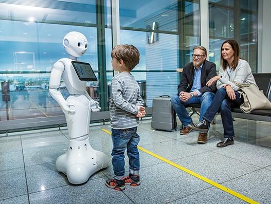 Munich Airport, Lufthansa starts trial test of humanoid lady robot