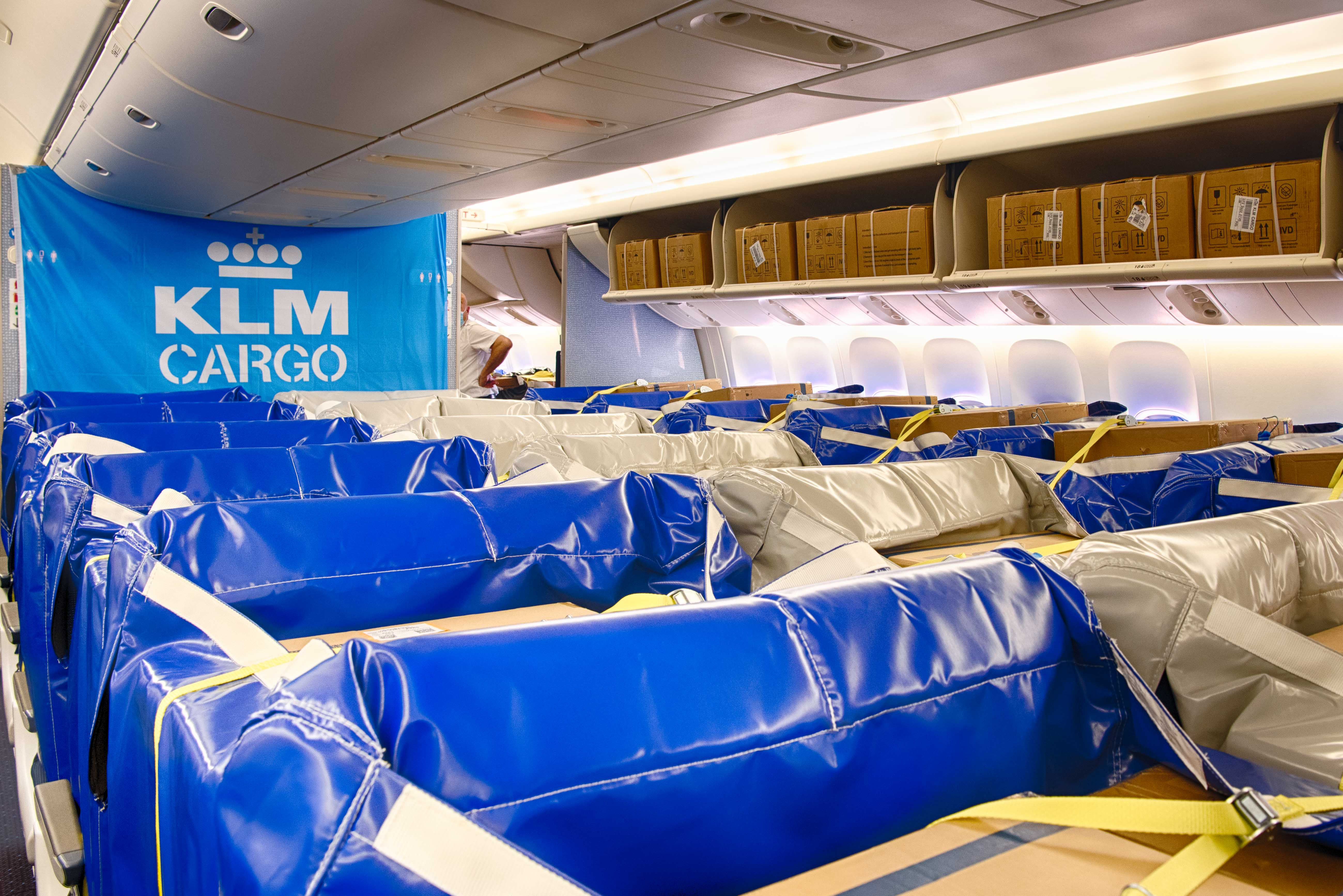 KLM Cargo introduces cargo seat bag for its cargo in cabin flights
